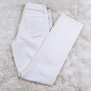 Cache embroidery jeans